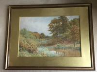 Harold Sutton Palmer Watercolour 'a pool near Durnsford, Surrey' (2 of 3)