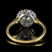 Antique Edwardian Old Cut Diamond Cluster Ring 18ct Gold 1.65ct Of Diamond Circa 1901 (5 of 6)