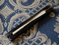 Unusual Vintage Black Framed Folding Fan - Ideal Gift (4 of 7)