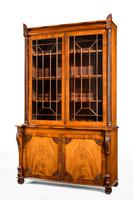 Regency Period Mahogany Bookcase with Matching Flared Panels to the Bottom Doors (6 of 6)