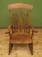 Antique Country Oak Rocking Chair with Nicely Aged Patina (2 of 14)