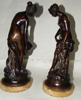 Pair of Victorian Bronzes - Diana Bathing (3 of 9)