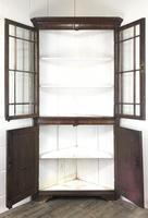 19th Century Antique Oak Glazed Corner Cupboard (8 of 10)