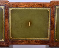 19th Century Victorian Burr Walnut Pedestal Desk (18 of 18)