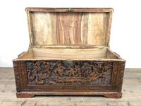 Early 20th Century Carved Camphor Trunk (4 of 14)