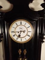 Ebonised Vienna Wall Clock. Gebruder Resch (3 of 7)