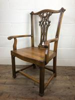 Pair of 19th Century Chippendale Style North Country Armchairs (6 of 10)