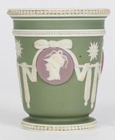 Wedgwood Georgian Three Color Jasperware Medallion Vase c.1790 (9 of 15)