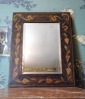Decorative Penwork Frame Bevel Edge Mirror