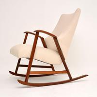1960's Dutch Vintage Mahogany Rocking Chair (5 of 9)