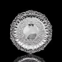 Magnificent Georgian Sterling Silver Tray / Salver with Military Lieutenant Interest - James Fray 1833 (9 of 23)