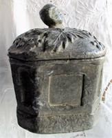 Antique English Georgian Lead Tobacco Box (4 of 8)