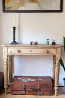 19th Century Pine Hall Table with Single Long Drawer (5 of 19)