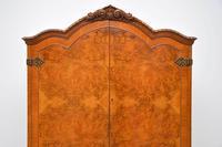 Antique Queen Anne Style Burr Walnut Cocktail Cabinet (9 of 11)