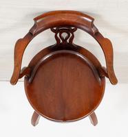 Victorian Mahogany Swivel Office Chair (8 of 8)