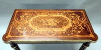 French Louis XVI Style Marquetry Card Occasional Table (12 of 13)
