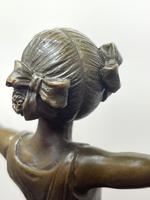 Charming  German Art Deco Style Bronze Sculpture Dancing Young Ballerina Girl (19 of 24)