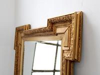 19th Century Shaped Gilt Mirror (4 of 6)