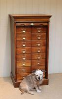 Solid Oak Lebus Tambour Front Filing Cabinet (10 of 10)