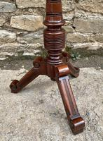 Victorian Walnut Adjustable Shaving Stand (5 of 17)