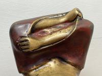 """Art Deco French Cold Painted Gilt Bronze Posing """"Mystery Nude Lady"""" c.1930 (14 of 41)"""
