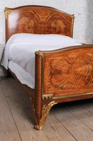 Spectacular and Beautiful Fruitwood Inlay Rococo King Size Bed (5 of 10)