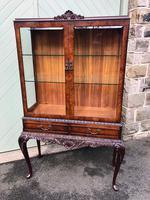 Antique Burr Walnut Display Cabinet (10 of 10)