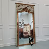 Large Antique French Trumeau Mirror c.1890 (5 of 6)