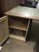 G. W. R Large Pine & Oak Leather Topped Desk (7 of 17)