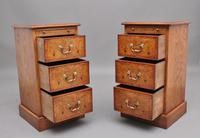 Pair of Mid 20th Century Burr Oak Bedside Chests (4 of 11)