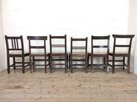 Selection of Six 19th Century Welsh Oak Farmhouse Kitchen Chairs (10 of 10)