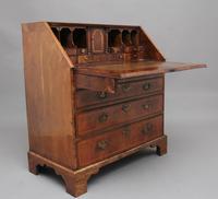 18th Century walnut & feather banded bureau (9 of 17)
