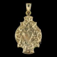 Antique Victorian Enamel Locket 15ct Gold c.1890 (6 of 7)