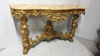 Carved Wood Gilt Console Table (14 of 17)