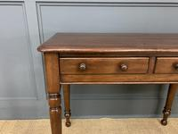 Victorian Mahogany 2 Drawer Side Table (2 of 12)