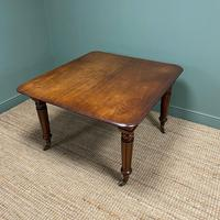 Large Stunning  Victorian Figured Mahogany Antique Wind Out Dining Table (8 of 9)