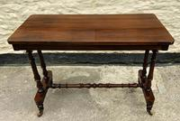 Fine 19th Century Regency Period Rosewood Veneered Occasional Writing Side Centre Table (2 of 12)