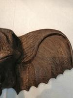 Arts & Crafts Carving of Elephants Head (4 of 5)