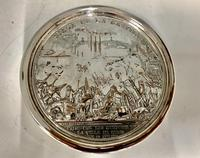 Antique 19th Century French Silver Plated Snuff Box Siege of the Bastille Snuff Box (5 of 6)