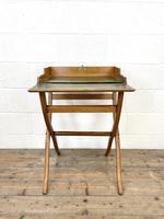 Antique Oak Folding Campaign Desk (4 of 10)