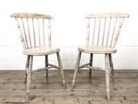 Pair of Rustic Antique Penny Chairs (2 of 9)