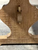 Bleached Oak French Trestle End Farmhouse Dining Table (12 of 28)