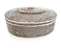Very Rare 18th Century Indian Filigree Silver Padan Box Karimnagar c.1760 (3 of 11)