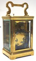 Good Antique French 8-day Repeat Carriage Clock Bevelled Case with Enamel Dial Gong Striking (7 of 15)