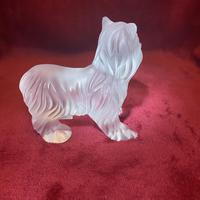 Lalique Sculpture of a Yorkshire Terrier Modelled in clear & frosted glass (4 of 5)