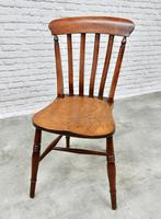 19th Century Matching Set of 6 Windsor Kitchen Chairs (3 of 6)