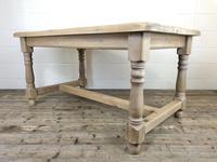 Vintage Antique Pine Farmhouse Kitchen Table (3 of 18)