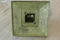 Large Victorian Brass Inkwell by William Tonks with Glass Liner WT&S c.1895 (8 of 9)