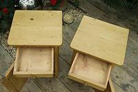 Cute & Quality Old Stripped Pine Bedside Cabinets (5 of 9)