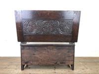 Antique Carved Oak Monks Bench (10 of 10)